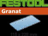 STF-Streifen Korn080, Granat 115x228mm