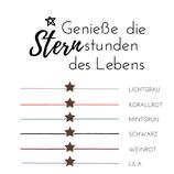 """""""Stern"""" Glücksknoten Armband Holz Nuss"""
