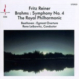 Brahms: Symphonie No. 4 in Minor / Royal Phil./ F. Reiner Beethoven: Egmont Overture/ Royal Phil. / R. Leibowitz Chersky CD-6A