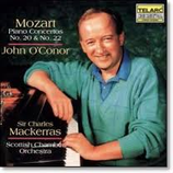 Mozart: Piano Concertos NO.20 & NO.22 O`Conor/ Mackerras/Scottish Chamber Orchestra Telarc CD-80308