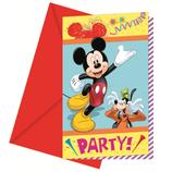 """Приглашения в конвертах """"Микки на карнавале"""", 6 шт."""