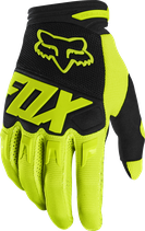 fox racing fx dirtpaw glove yellow fluo
