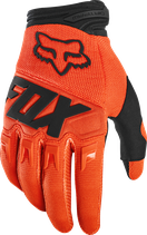 fox racing fx dirtpaw glove orange fluo
