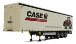 Pacton curtainsider trailer Case IH design