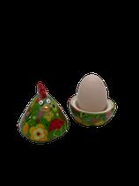 """Eierbecher Huhn """"Matilda"""" - grün - zZt ausverkauft"""