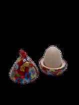 "Eierbecher Huhn ""Matilda"" - rot mit Blumen - zZt ausverkauft"
