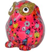Brillenhalter Eule, pink mit Käfern