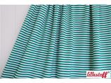 Jersey Streifen grün/weiß