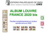Feuilles France Louvre 2020 pour carnets autocollants