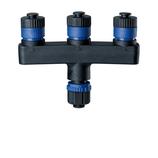 Paulmann Outdoor Plug & Shine Verteiler IP68 1 in-3 out Schwarz Kunststoff