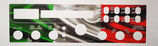 Mascerine Adesive PVC LUCIDO per Midland Alan 8001 (tutte le versioni)