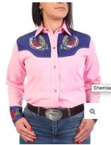 Chemise rose Fer à cheval