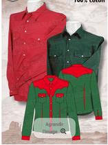Chemise Vert/Rouge M/L 1053