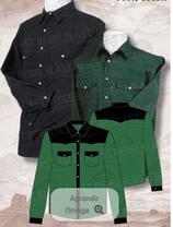 Chemise  Vert/Noir ML 1056