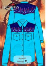 Chemise noire  - Epaules Bleues 1215