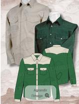 Chemise Vert/Beige ML 1059