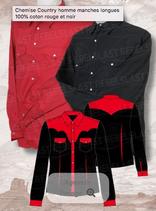 Chemise Noir/Rouge M/L 1051