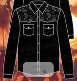 Chemise noir Epaules Bandanas M/L 1211