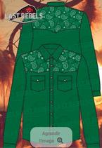 Chemise vert Epaules Bandana vert  M/L 1212