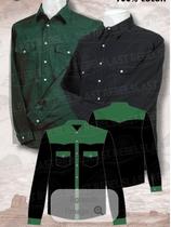Chemise Noir/Vert ML 1060