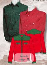 Chemise  Rouge/Vert ML 1062