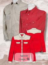 Chemise  Rouge/Beige ML 1058