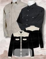 Chemise Noir/Beige ML 1057