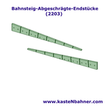 Bahnsteigkante ÖBB abgeschrägte Endstücke (2 x 2 Stück)