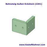 Bahnsteigkante ÖBB Außen Eckstück 4er Pack