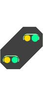 DB Vorsignal / Vorsignalwiederholer - in Spur HO - BAUSATZ!