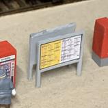 HO-Abfahrtstafeln / Wagenstandsanzeiger - 4er Packung