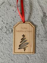 """Geschenkanhänger Ahorn - Frohe Weihnachten """"Christbaum 4"""""""