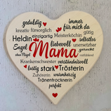 """Wandbild """"Mama"""" Herz aus Ahornholz"""