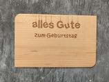 """Geburtstagskarte aus Echtholz """"Alles Gute zum Geburtstag"""" - 2"""