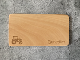 Personalisiertes Brotzeitbrett für Kinder mit Wunschgravur - Erle