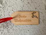"""Geschenkanhänger Ahorn klein - Frohe Weihnachten """"Elch"""""""