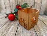 Weihnachtslaterne Elch-Liebe & Tannenbaum