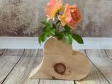 """Blumenvase """"Herz-Design 2"""" aus Zirbenholz"""