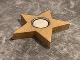 Teelichthaltern Stern (Eiche)
