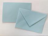 Briefumschlag DIN6 - hellblau