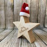 Weihnachtsstern aus Massivholz - 15cm