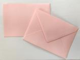 Briefumschlag DIN6 - rosa