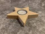 Teelichthaltern Stern (Ahorn)