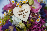 Holzherz für Hochzeit - Tischdeko, Platzkarte oder Gastgeschenk - Gravur einseitig