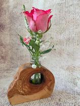 "Blumenvase ""Ast"" aus Apfelbaumholz"