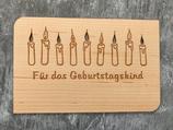 """Geburtstagskarte aus Echtholz """"Für das Geburtstagskind"""""""
