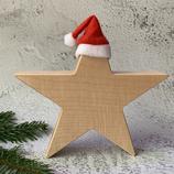 Weihnachtsstern aus Massivholz, 20cm - Ahorn #1