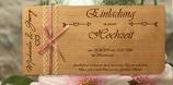 Karte / Einladung aus Echtholz zur Hochzeit - einseitig graviert