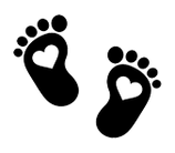 Füße Herz