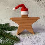 Weihnachtsstern aus Massivholz, 15cm - Douglasie #2